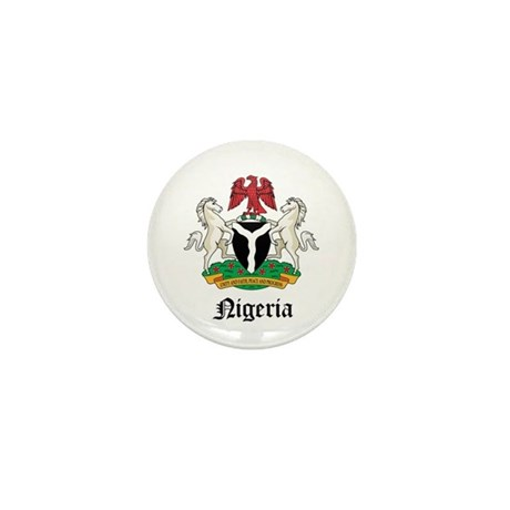 Nigerian Coat of Arms Seal Mini Button
