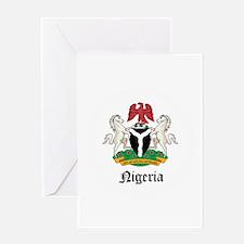 Nigerian Coat of Arms Seal Greeting Card