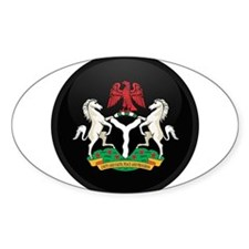 Coat of Arms of nigeria Oval Decal
