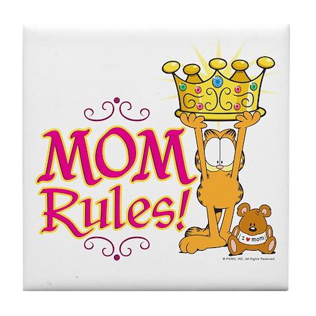 Mom Rules! Tile Coaster