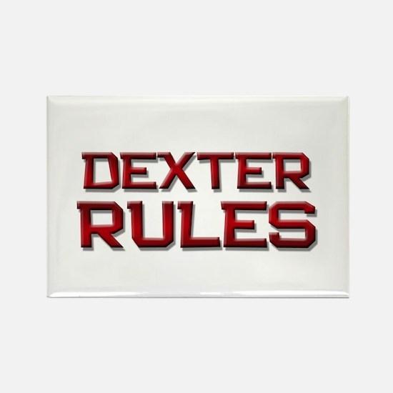 dexter rules Rectangle Magnet
