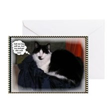 Cat thoughts funny Greeting Cards (Pk of 10)
