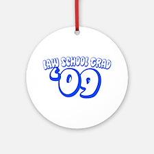 Law School Grad 09 (Blue Bubble) Ornament (Round)