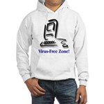 Virus-Free Zone! Hooded Sweatshirt