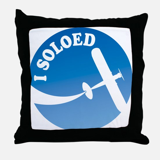 Airplane - I Soloed Throw Pillow