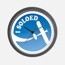 Airplane - I Soloed Wall Clock