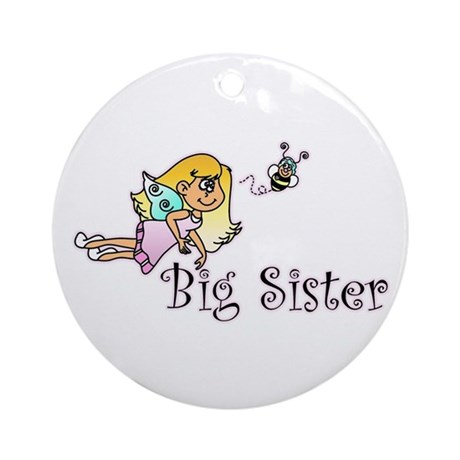 Color Bee Fairy Big Sister Ornament (Round)