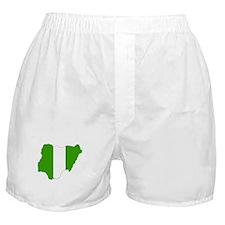 nigeria Flag Map Boxer Shorts