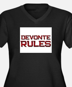 devonte rules Women's Plus Size V-Neck Dark T-Shir