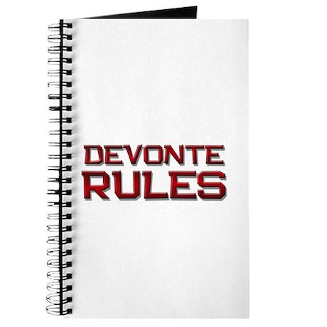 devonte rules Journal