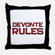 devonte rules Throw Pillow
