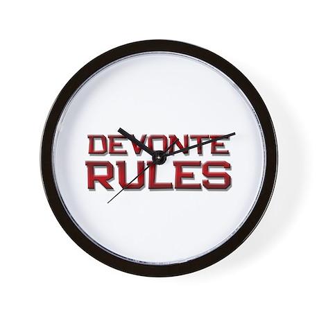 devonte rules Wall Clock