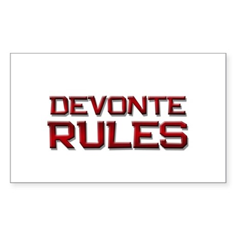 devonte rules Rectangle Sticker