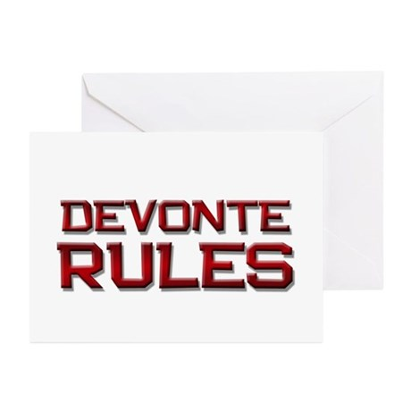 devonte rules Greeting Cards (Pk of 10)