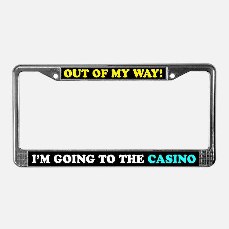 Casino Lovers License Plate Frame