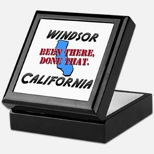 windsor california - been there, done that Keepsak