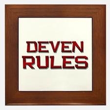 deven rules Framed Tile