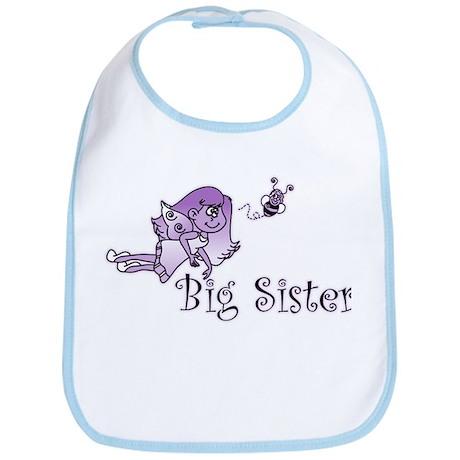 Purple Bee Fairy Big Sister Bib