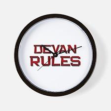devan rules Wall Clock