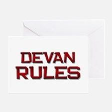 devan rules Greeting Card