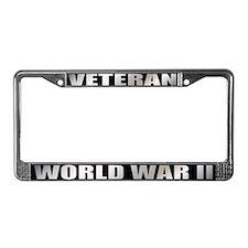 World War II Veteran License Plate Frame