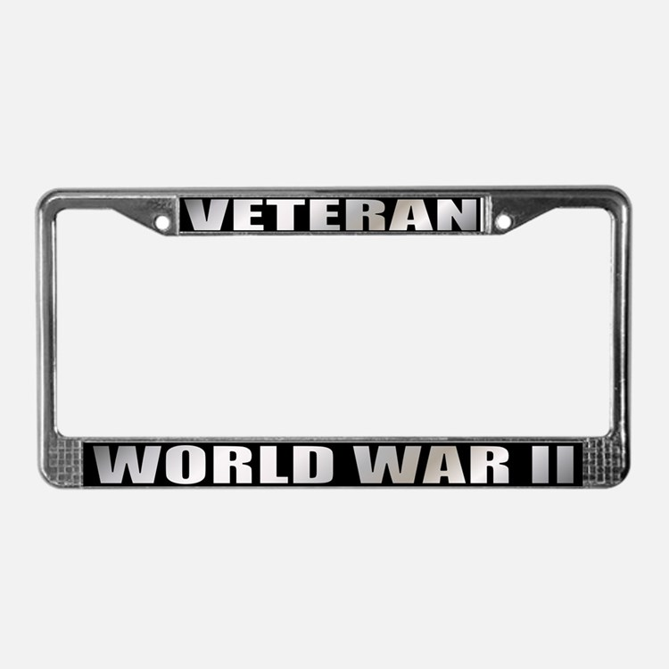 World War II Veteran License Plate Frame