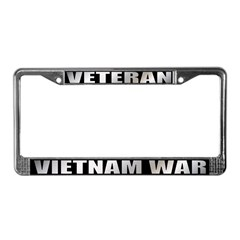 Vietnam War Veteran License Plate Frame