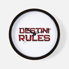 destini rules Wall Clock