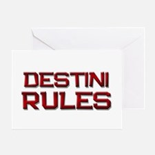 destini rules Greeting Card