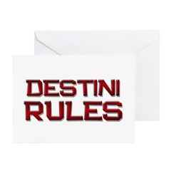 destini rules Greeting Cards (Pk of 20)