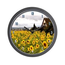 Sunflower House Wall Clock