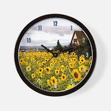 Sunflower House Wall Clock