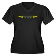 BJJ Wings Women's Plus Size V-Neck Dark T-Shirt