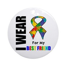 Autism Best Friend Ornament (Round)