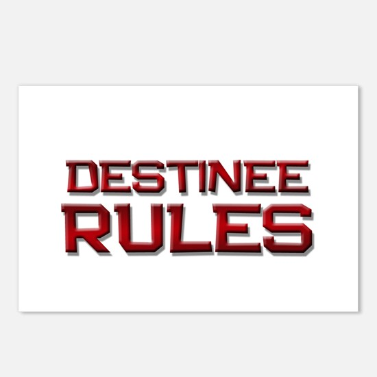 destinee rules Postcards (Package of 8)