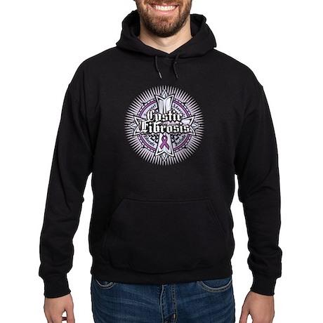 Cystic Fibrosis Celtic Cross Hoodie (dark)