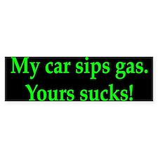 My Car Sips Bumper Bumper Sticker