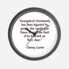 Jimmy Carter Quote Wall Clock