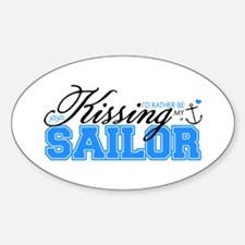Kissing My Sailor Oval Decal