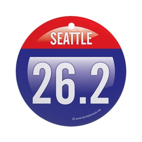 Seattle Marathon Ornament (Round)