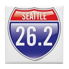 Seattle Marathon Tile Coaster