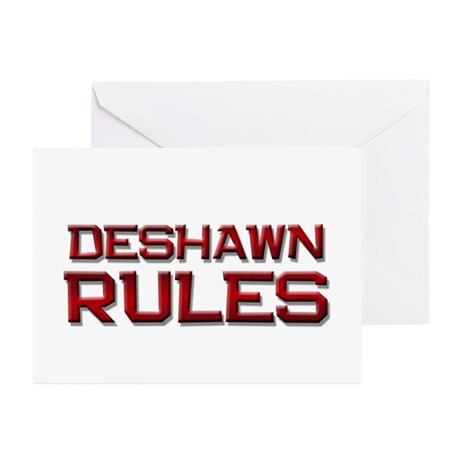 deshawn rules Greeting Cards (Pk of 20)