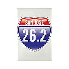 San Jose Marathon Rectangle Magnet