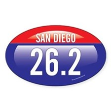 San Diego Marathon Oval Decal