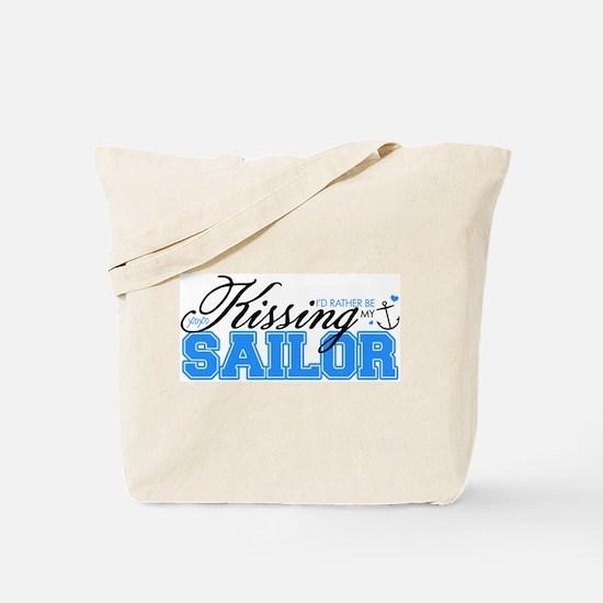 Kissing My Sailor Tote Bag