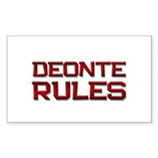 deonte rules Rectangle Decal