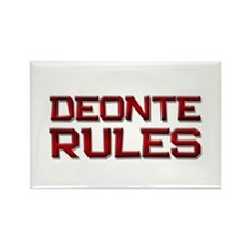 deonte rules Rectangle Magnet