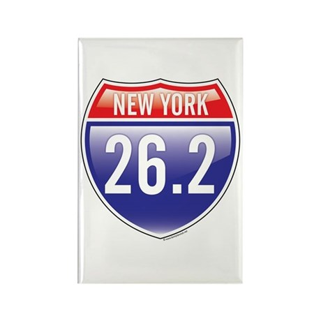 New York Marathon Rectangle Magnet