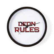 deon rules Wall Clock