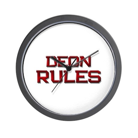 deon rules Wall Clock